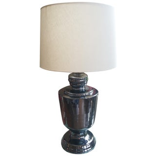Reflective Silver Table Lamp