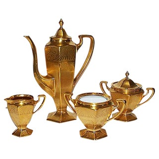 Limoge Deco Tea/Coffee Service - S/4
