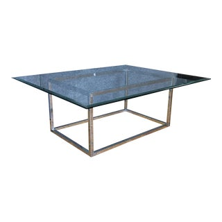 Modern Glass & Metal Coffee Table