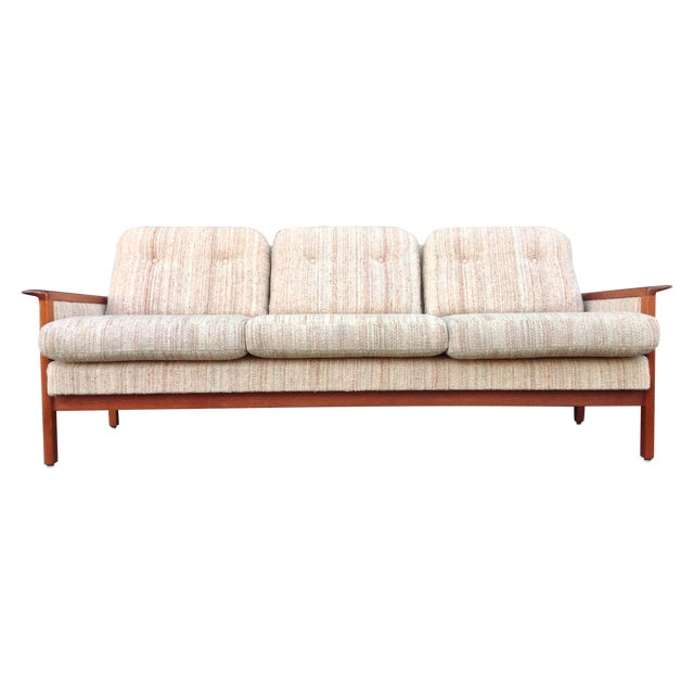 Mid Century Danish Teak Sofa - Image 1 of 8