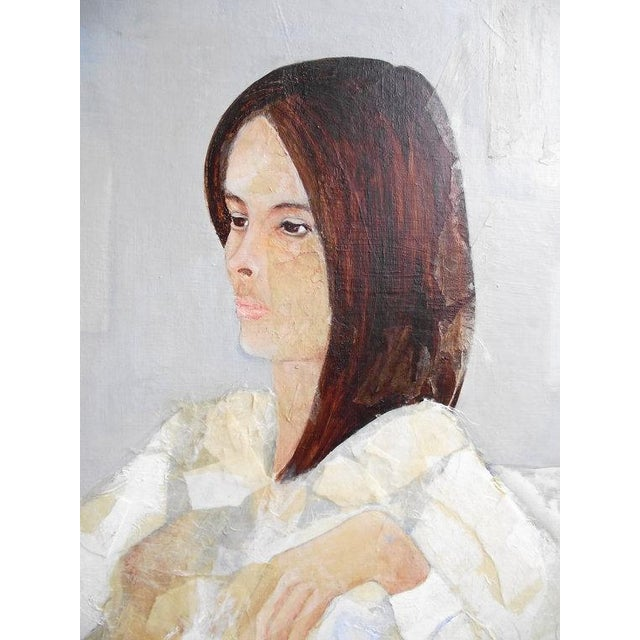 Mod Abstract Portrait Painting - Image 5 of 7