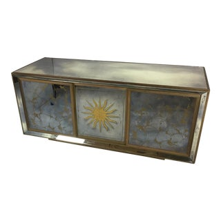Antique Golden Sun Mirrored Cabinet
