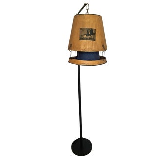 Vintage Hat Box Shade Floor Lamp
