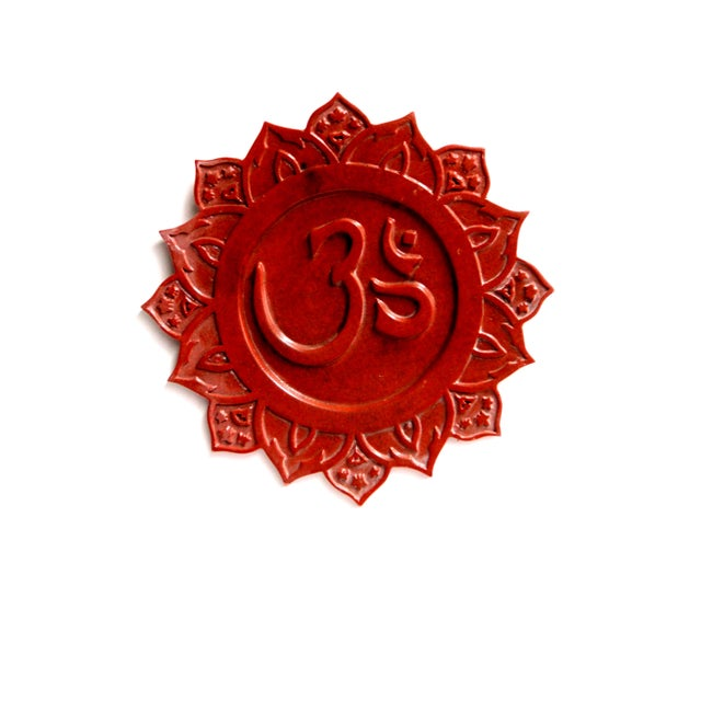 """Om"" Sanskrit Wall Plaque - Image 1 of 2"