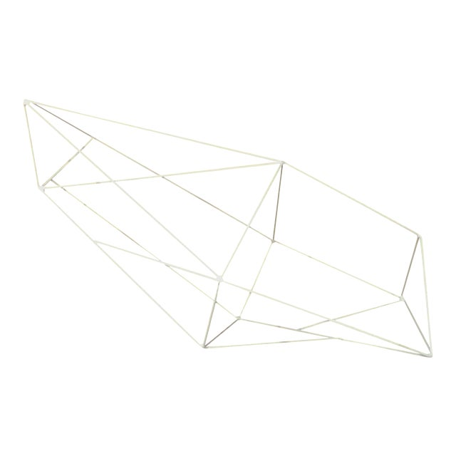 Minimalist Powder Coated Abstract Polyhedron Geometric Sculpture - Image 1 of 5