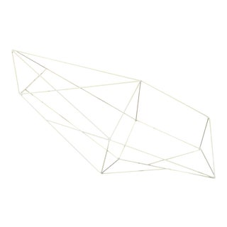 Minimalist Powder Coated Abstract Polyhedron Geometric Sculpture
