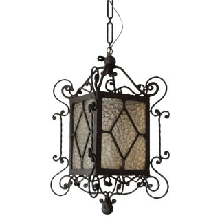 Vintage Black Painted Spanish Lantern