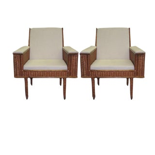 Exquisite Pair of French Armchairs by Audoux-Minet