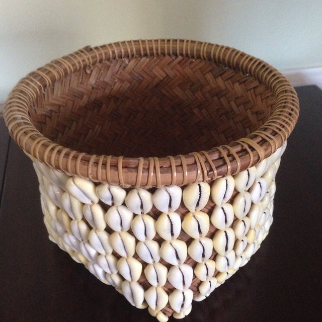 Vintage Woven Shell Basket - Image 11 of 11