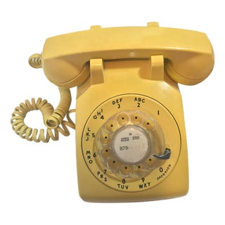 Vintage Mid Century Working Rotary Dial Phone