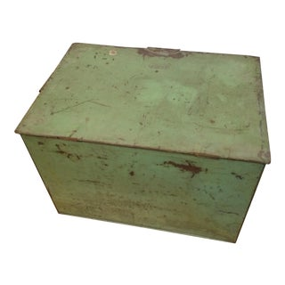 Mint Green Metal Ice Chest