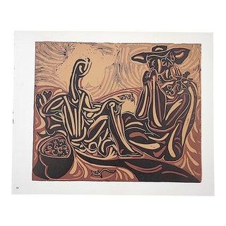 """Vintage Picasso Lithograph-""""Les Vendangeurs"""""""