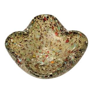 Vintage Murano Multi-Colored Glass Bowl by Avem Italian Italy Mid Century Modern