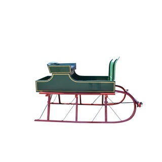 Green Horse Drawn Sled