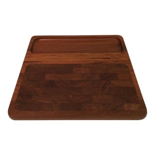 Vintage Danish Kalmar Designs Teak Cheese Tray