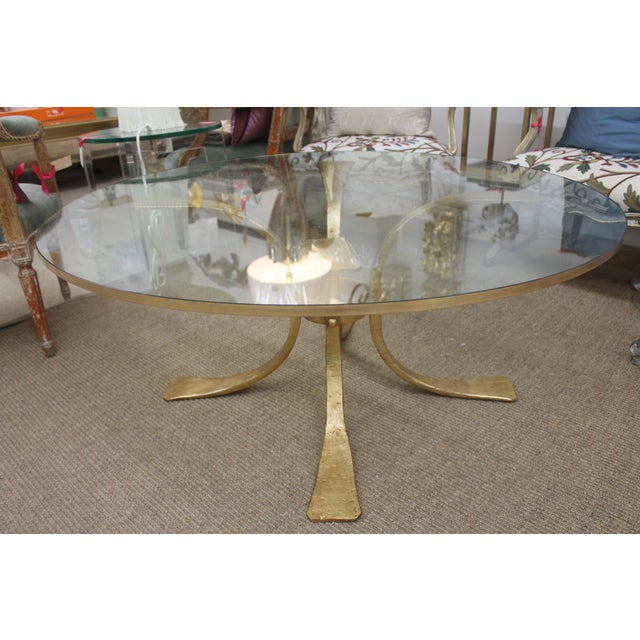 Gold Base & Glass Top Coffee Table - Image 2 of 7