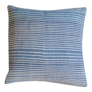 Handmade Indigo Throw Pillow