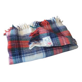 Plaid 100% Virgin Wool Throw by Carldyke