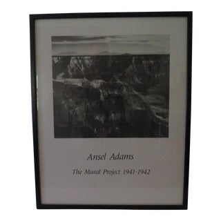 Vintage Ansel Adams Mural Project Poster
