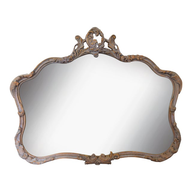 Image of Vintage Off White and Gold Mirror