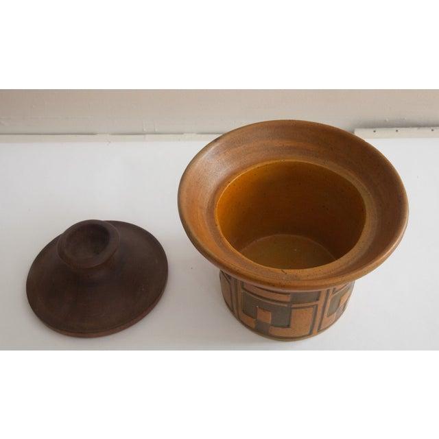 Rare Raymor Teak & Ceramic Container - Image 3 of 5