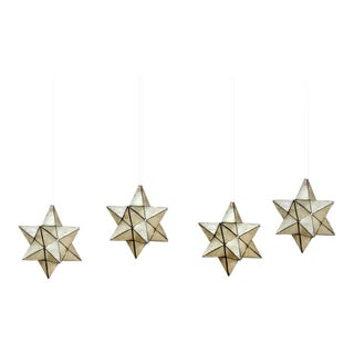 Four Capiz Star-Shaped Pendant Lights