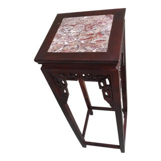 Vintage Asian Cherry Wood Plant Stand