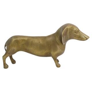 1950s Vintage Brass Dachshund Figurine