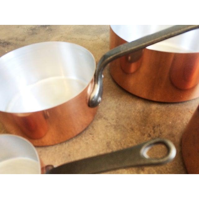 Image of 1960's Vintage French Copper Pot Set - 5 Pcs
