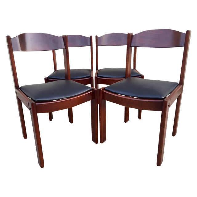 Restored mid century modern dining chairs 4 chairish for Modern dining chairs ireland