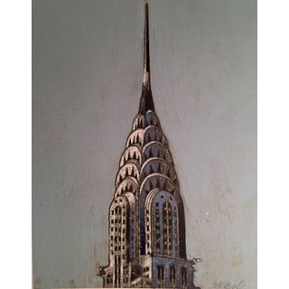 Chrysler Building Watercolor & Acrylic Painting