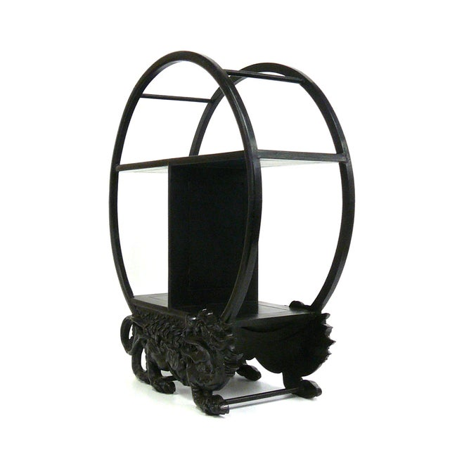 Mini Round Display Stand with Foo Dog Motif - Image 3 of 6