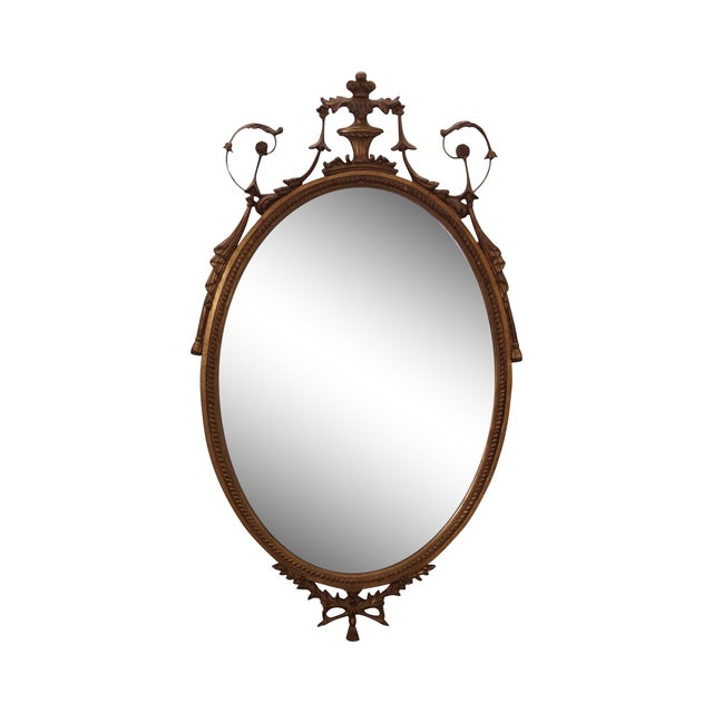 Carvers Guild Carved Gilt Adams Hanging Mirror - Image 1 of 10