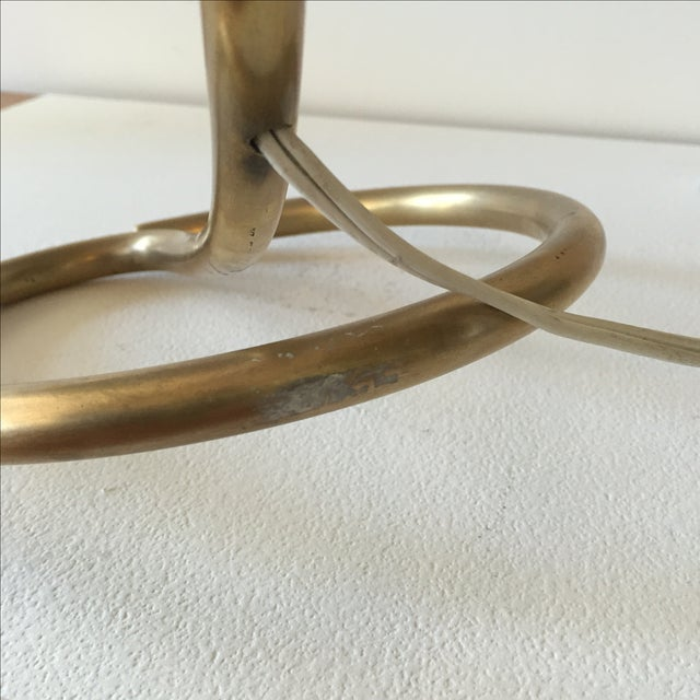 Mid-Century 1960s White & Gold Desk Lamp - Image 8 of 11