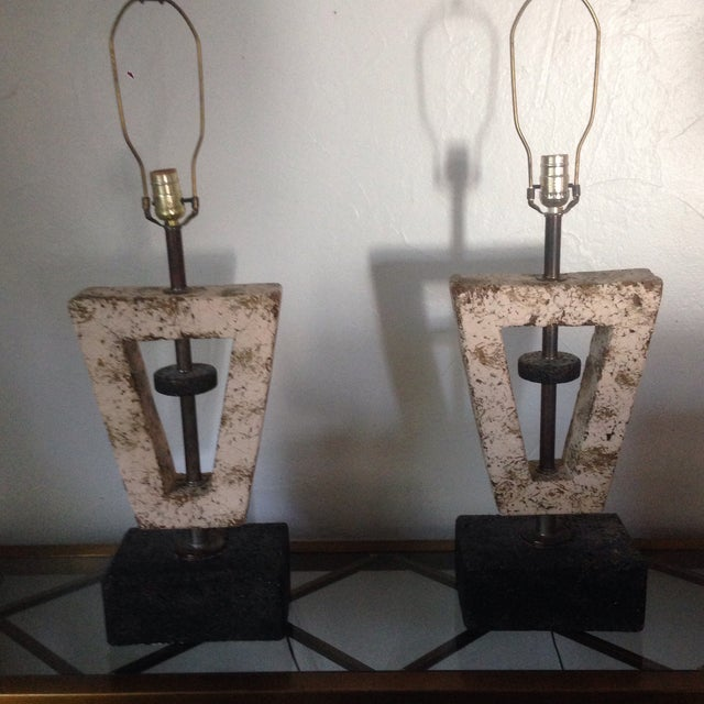 Deco Butterfly Cork Lamps - A Pair - Image 6 of 10