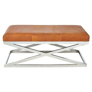 Chrome & Leather X-Bench