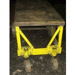 Image of Antique Industrial Rolling Metal Cart Table