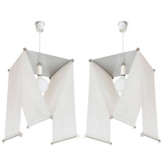 Pair of Achille and Pier Giacomo Castiglioni Suspension Lights for Flos