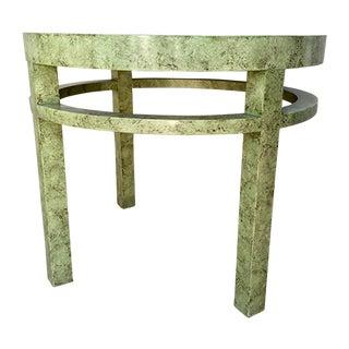 Henredon Round Green Faux Deco Table