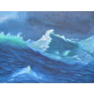 1965 Pacific Wave Caps Oil Painting