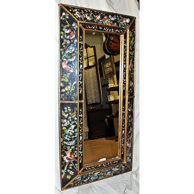 Image of Reverse Painted Box Mirror