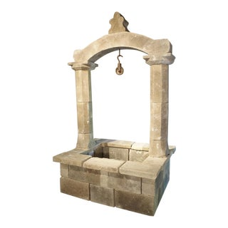 Carved Stone Well from the Apulia Region of Italy