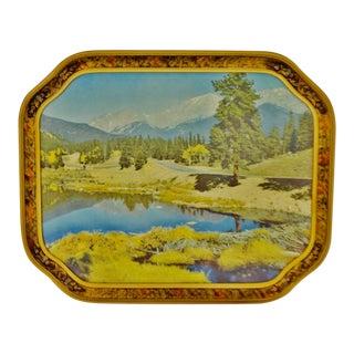 Victorian Carved Wood Framed Landscape Print