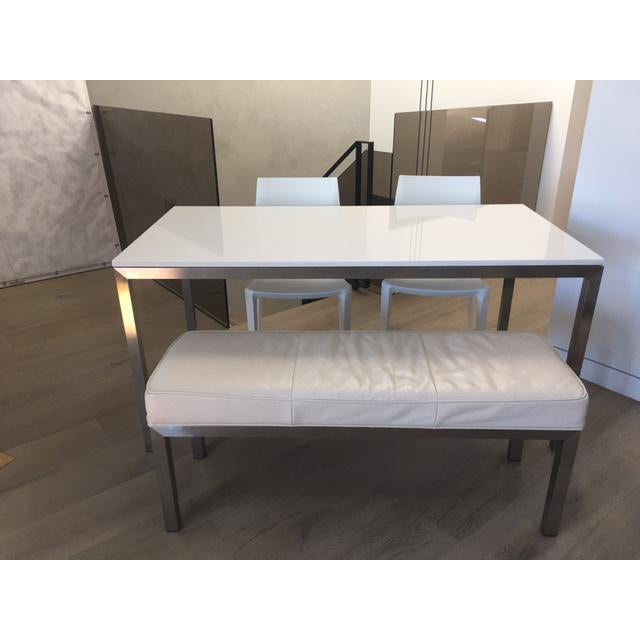 Room & Board Portico Table With Bench & Chairs - Set of 4 - Image 2 of 7