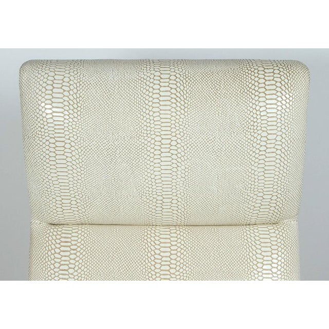 Paul Marra Slipper Chair in Brass with Faux Python - Image 7 of 10