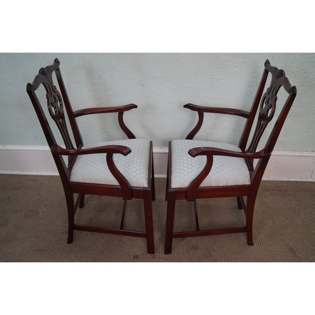 Hickory Chair Chippendale Style Dining Arm Chairs - A Pair ...