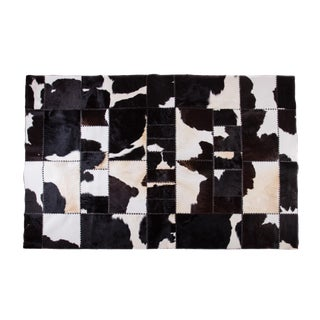 """Aydin Cowhide Patchwork Accent Area Rug - 6'5"""" x 9'4"""""""