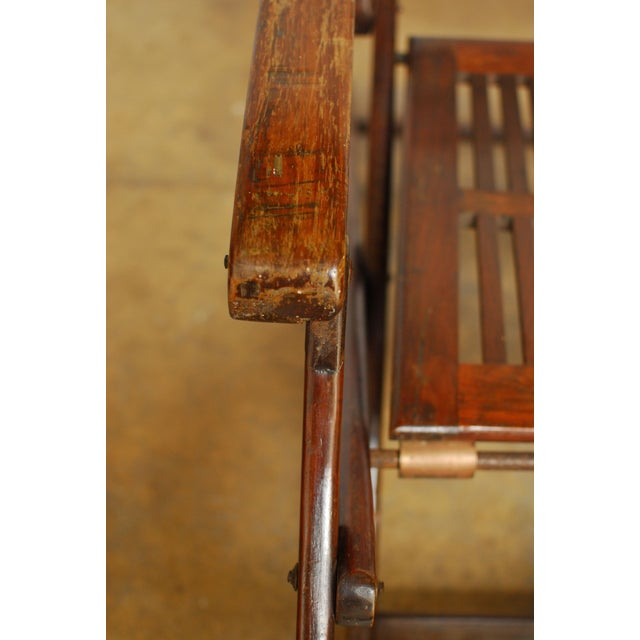 Antique Ocean Steamer Deck Chair - Image 5 of 7