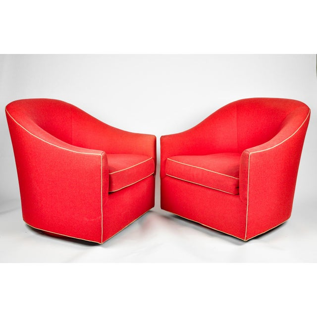 1960s Barrel Chairs, S/2 - Image 5 of 11