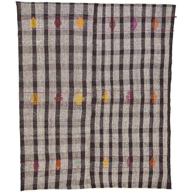 Vintage Turkish Flat Weave Rug: Vintage Turkish Flat Weave Kilim Rug - 7′9″ × 9′6″